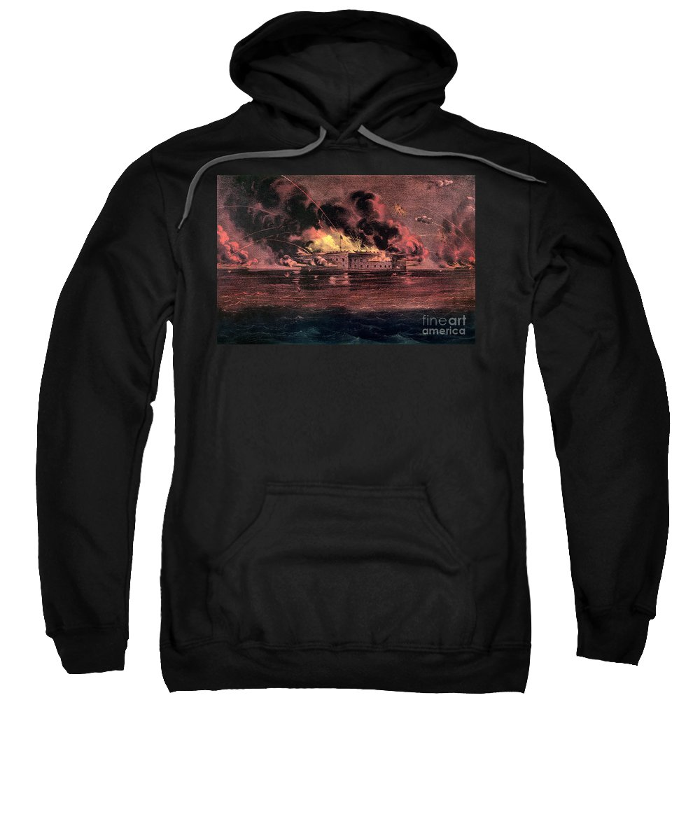 1861 Sweatshirt featuring the photograph Fort Sumter, 1861 by Granger