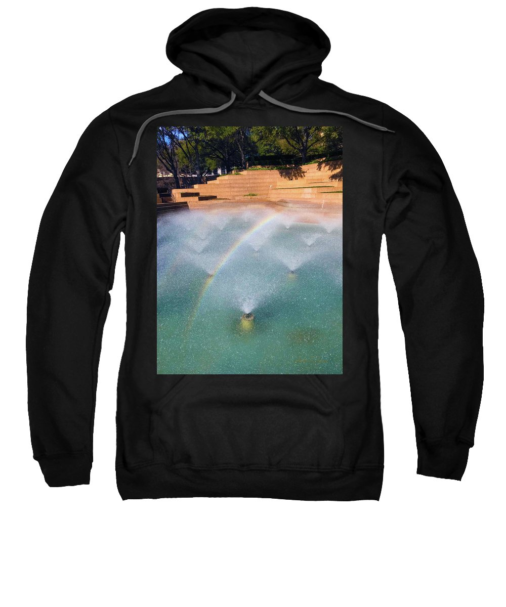 Sweatshirt featuring the photograph Fort Worth Water Gardens - Aerated Pool by Robert J Sadler