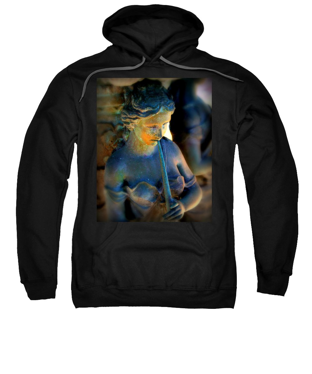 Girl Sweatshirt featuring the photograph Fountain Girl by Perry Webster