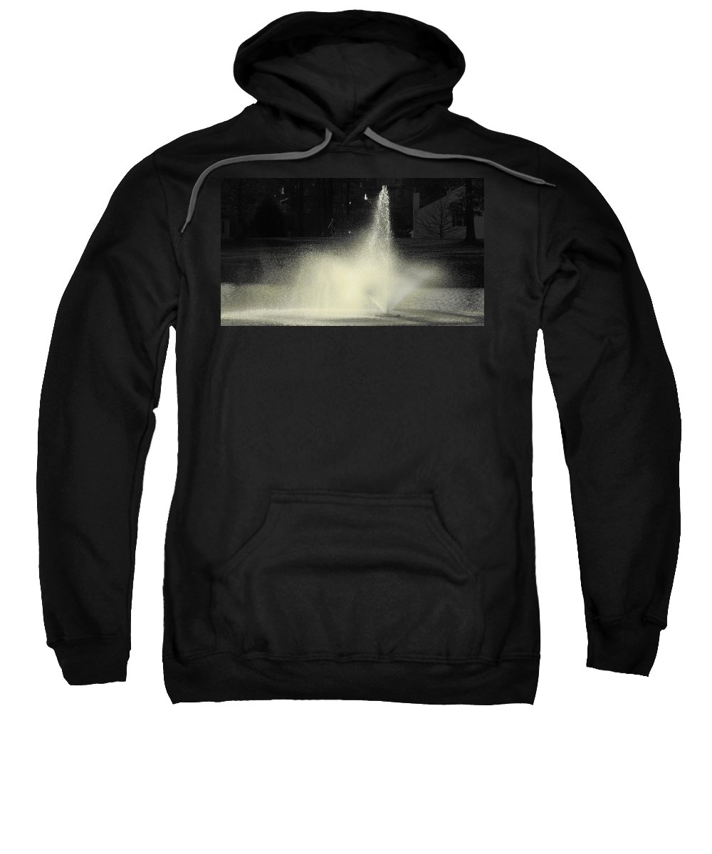 Water Sweatshirt featuring the photograph Fountain by Sarah Houser