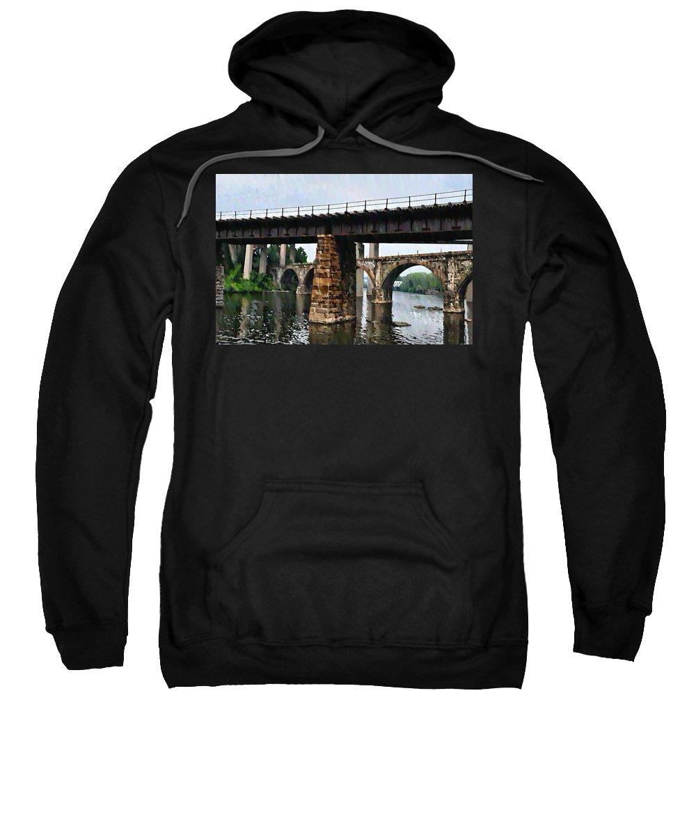 Bridge Sweatshirt featuring the photograph Four Bridges Of East Falls by Bill Cannon