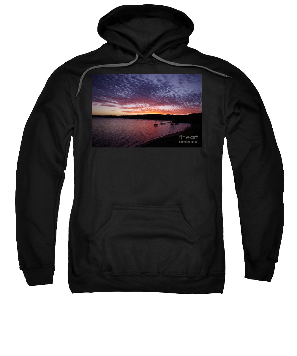 Landscape Sweatshirt featuring the photograph Four Elements Sunset Sequence 1 Coconuts Qld by Kerryn Madsen - Pietsch