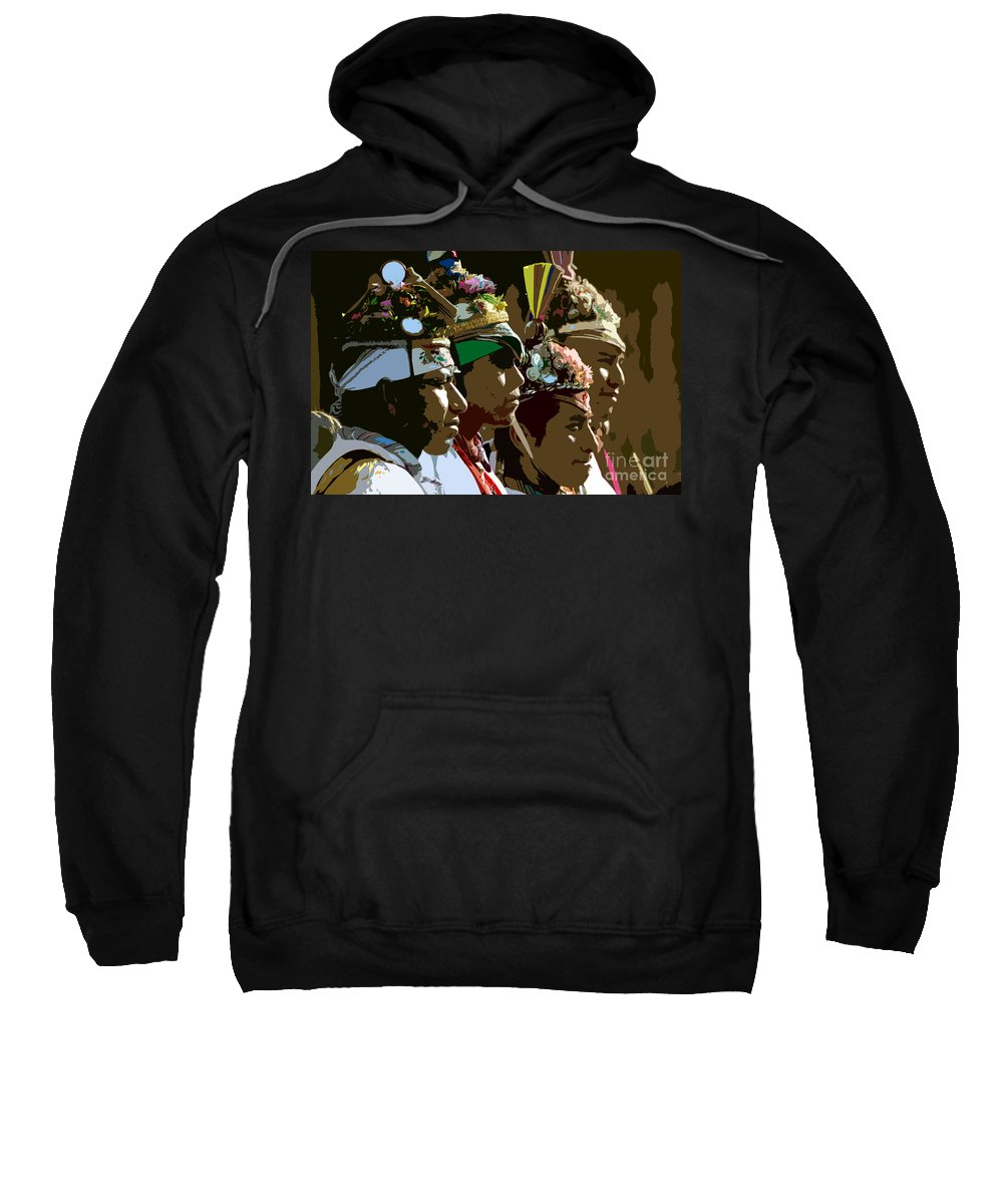 Men Sweatshirt featuring the painting Four Flyer's by David Lee Thompson