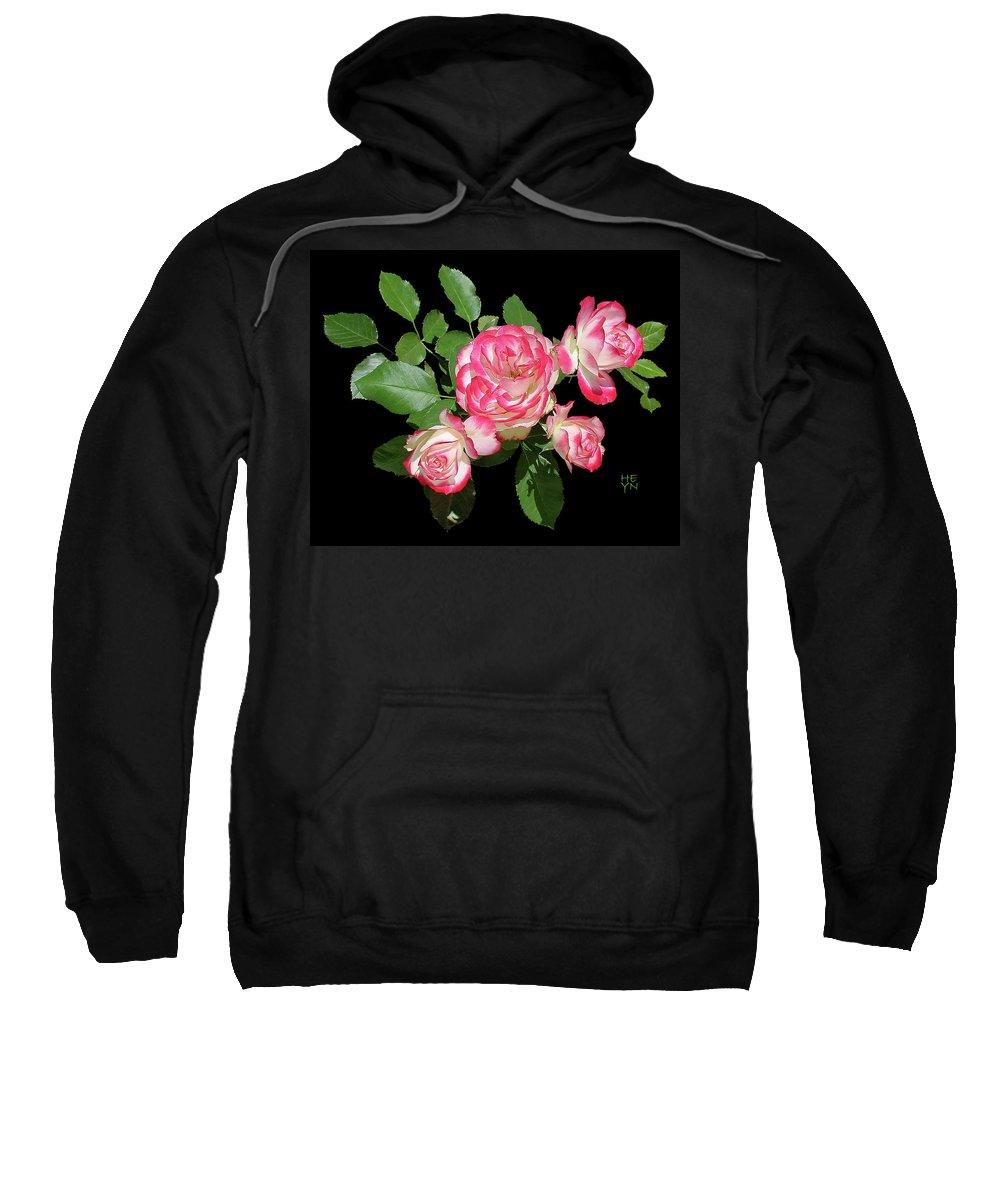 Cutout Sweatshirt featuring the photograph Four Roses Cutout by Shirley Heyn