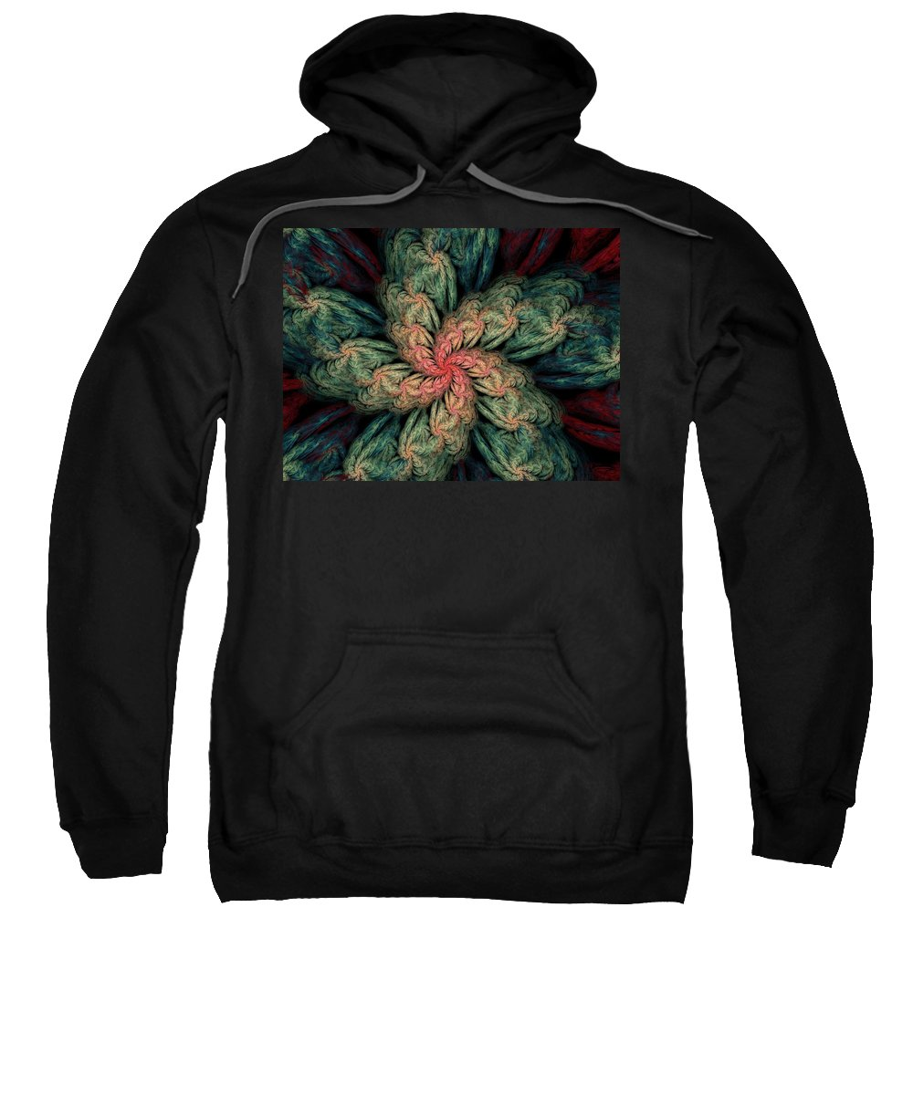 Digital Painting Sweatshirt featuring the digital art Fractal Fantasy 02-13-10 by David Lane