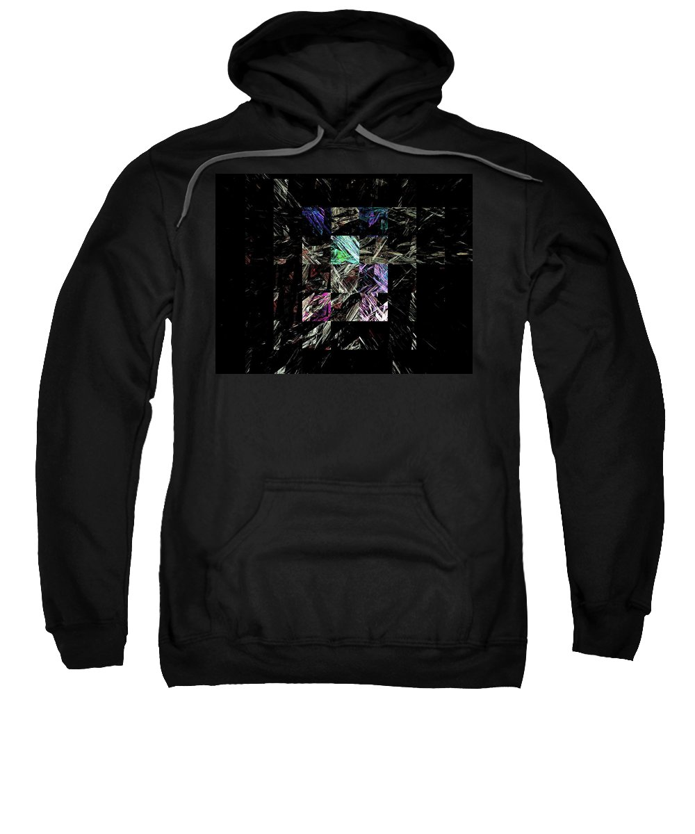 Abstract Digital Painting Sweatshirt featuring the digital art Fractured Fractals by David Lane