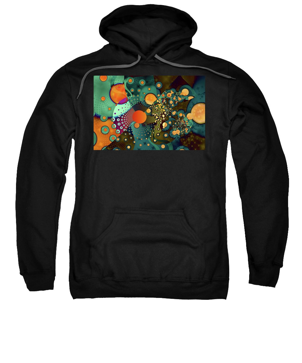Abstract Sweatshirt featuring the digital art Fragmentation by Frederic Durville