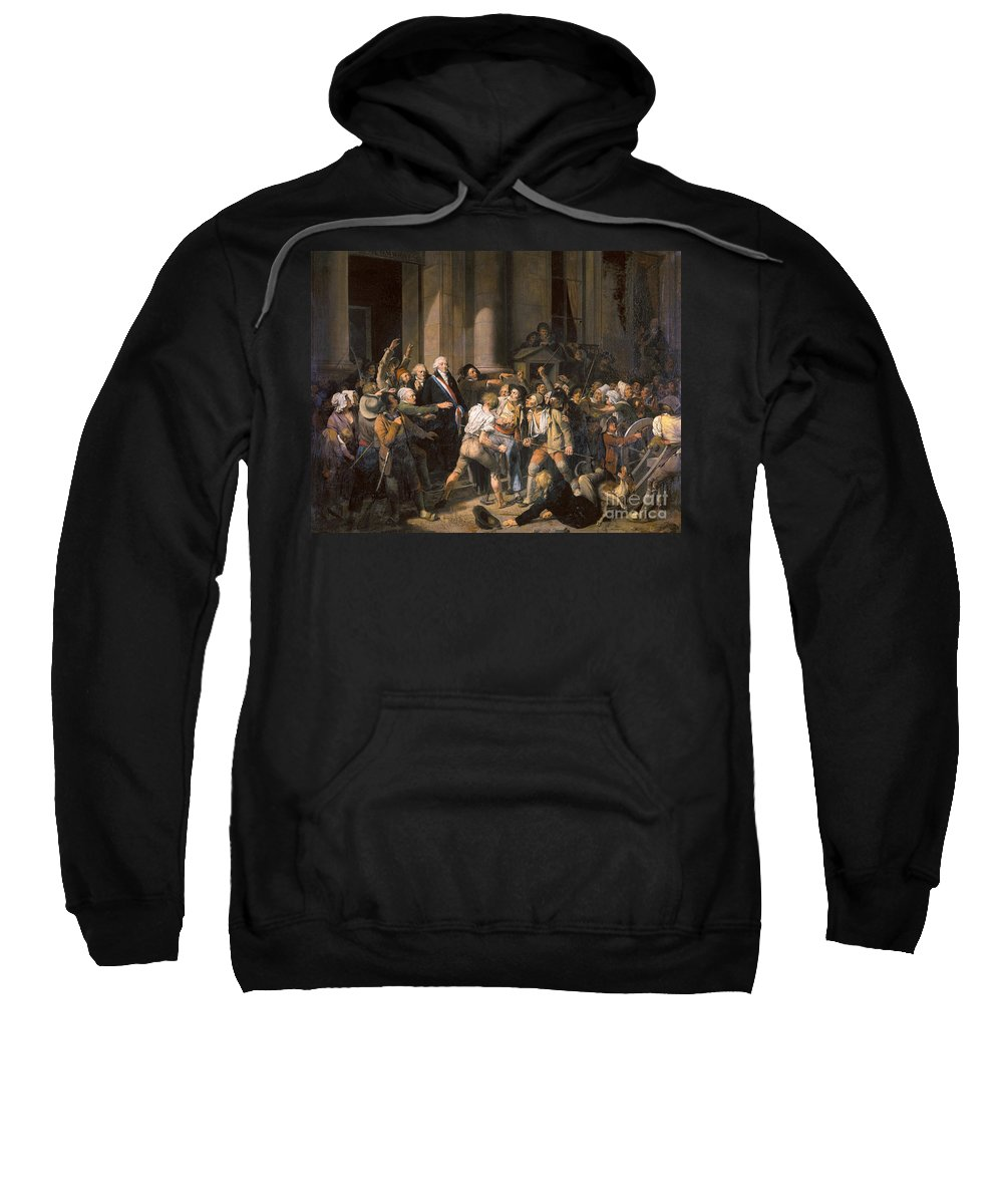 1793 Sweatshirt featuring the photograph France: Bread Riot, 1793 by Granger