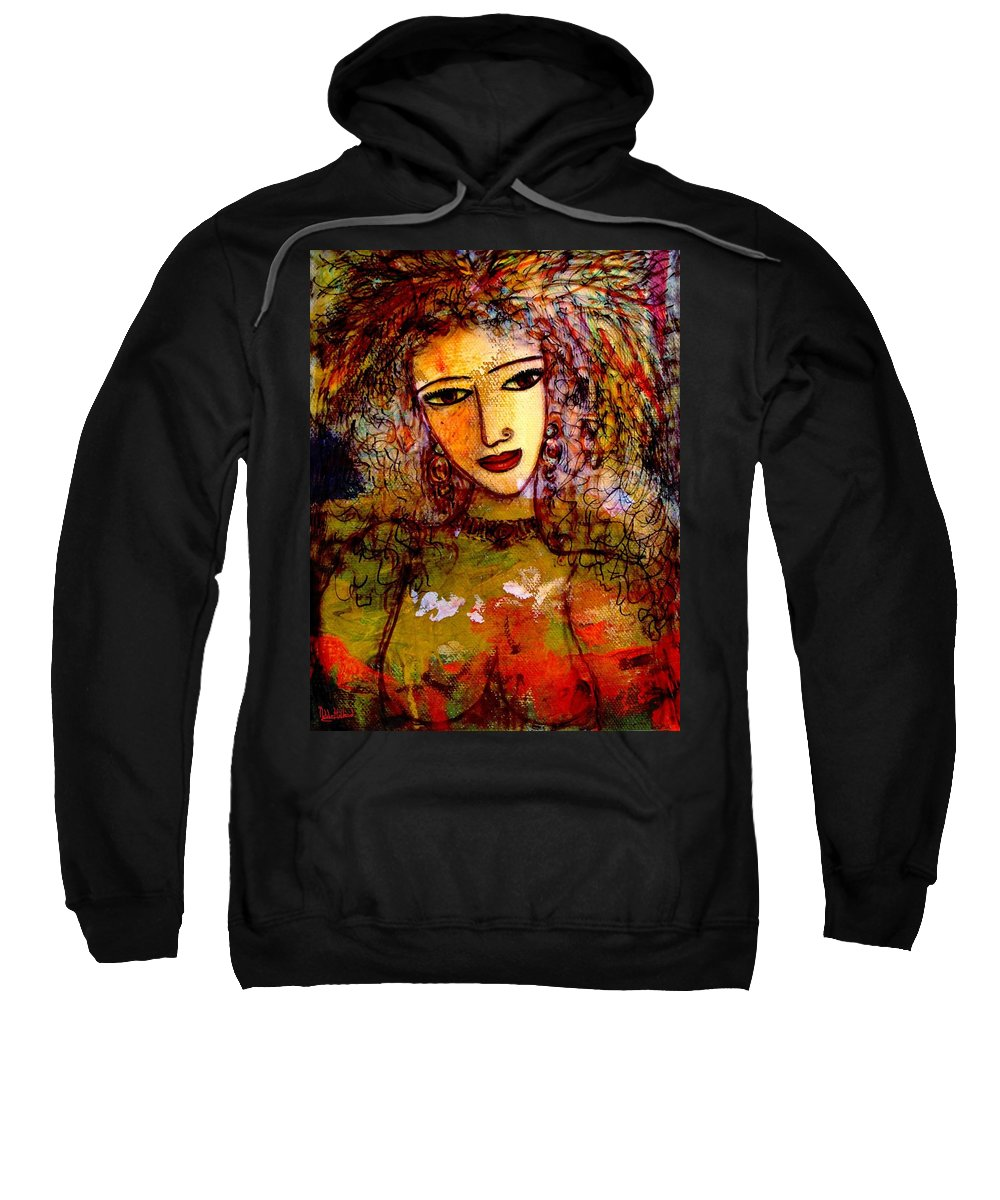 Sexy Woman Sweatshirt featuring the painting Francesca by Natalie Holland
