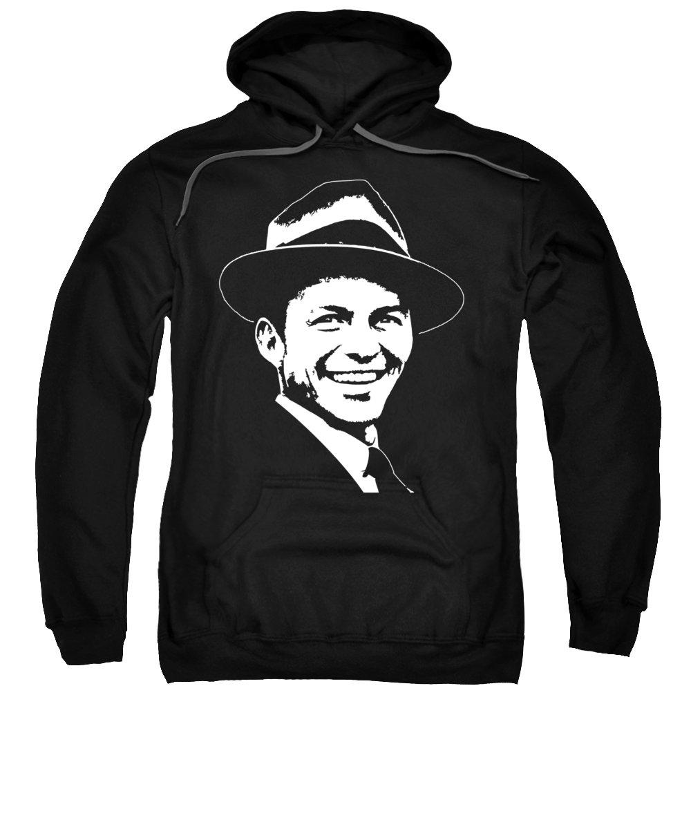 Sinatra Sweatshirt featuring the digital art Frank Sinatra Pop Art by Filip Schpindel