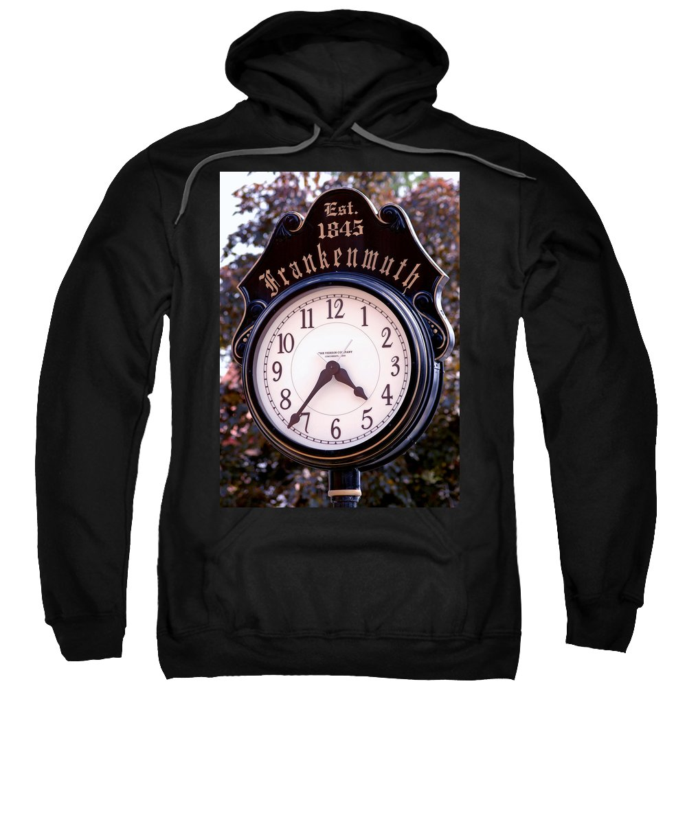 Usa Sweatshirt featuring the photograph Frankenmuth Time by LeeAnn McLaneGoetz McLaneGoetzStudioLLCcom