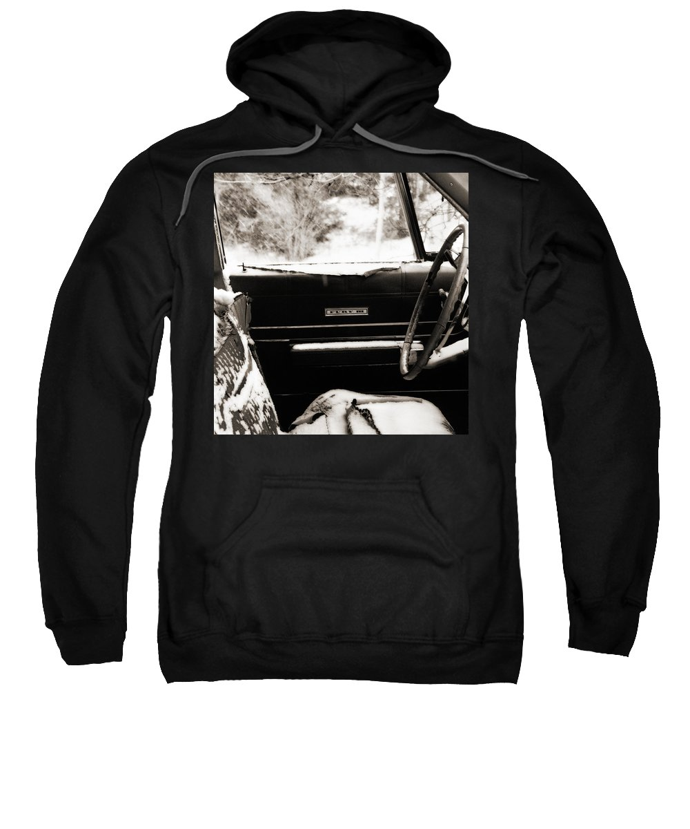 Car Sweatshirt featuring the photograph Freezing Fury by Marilyn Hunt