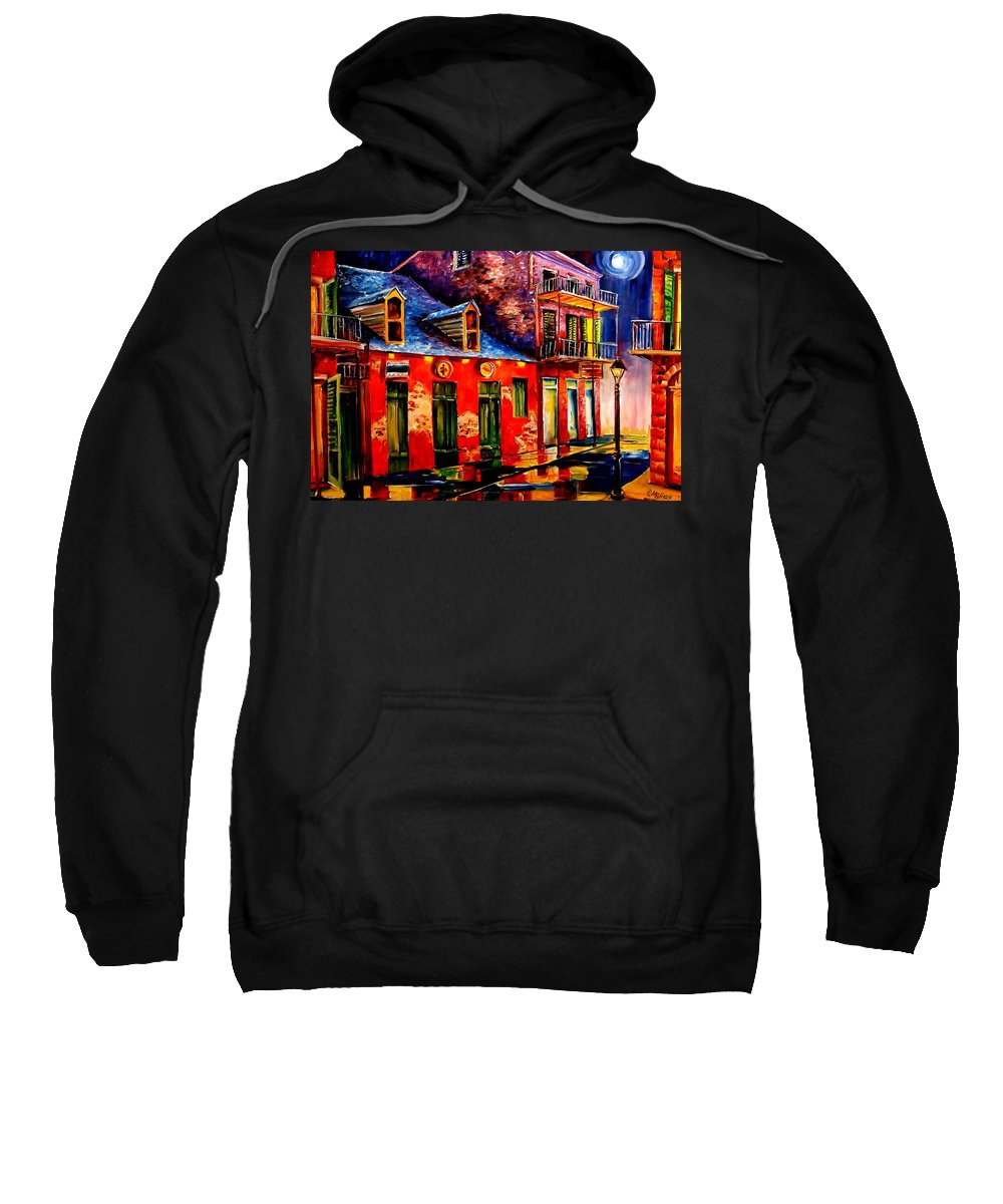 New Orleans Sweatshirt featuring the painting French Quarter Dazzle by Diane Millsap