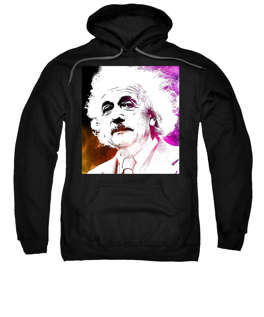 Einstein Sweatshirt featuring the painting Freud In Flux by John Malone