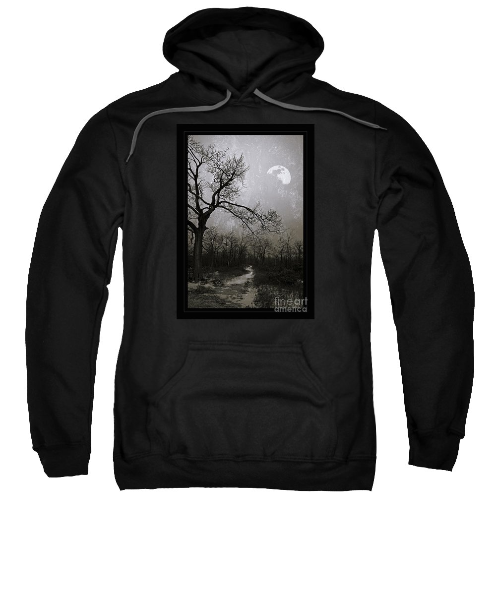 Twisted Sweatshirt featuring the photograph Frigid Moonlit Night by John Stephens