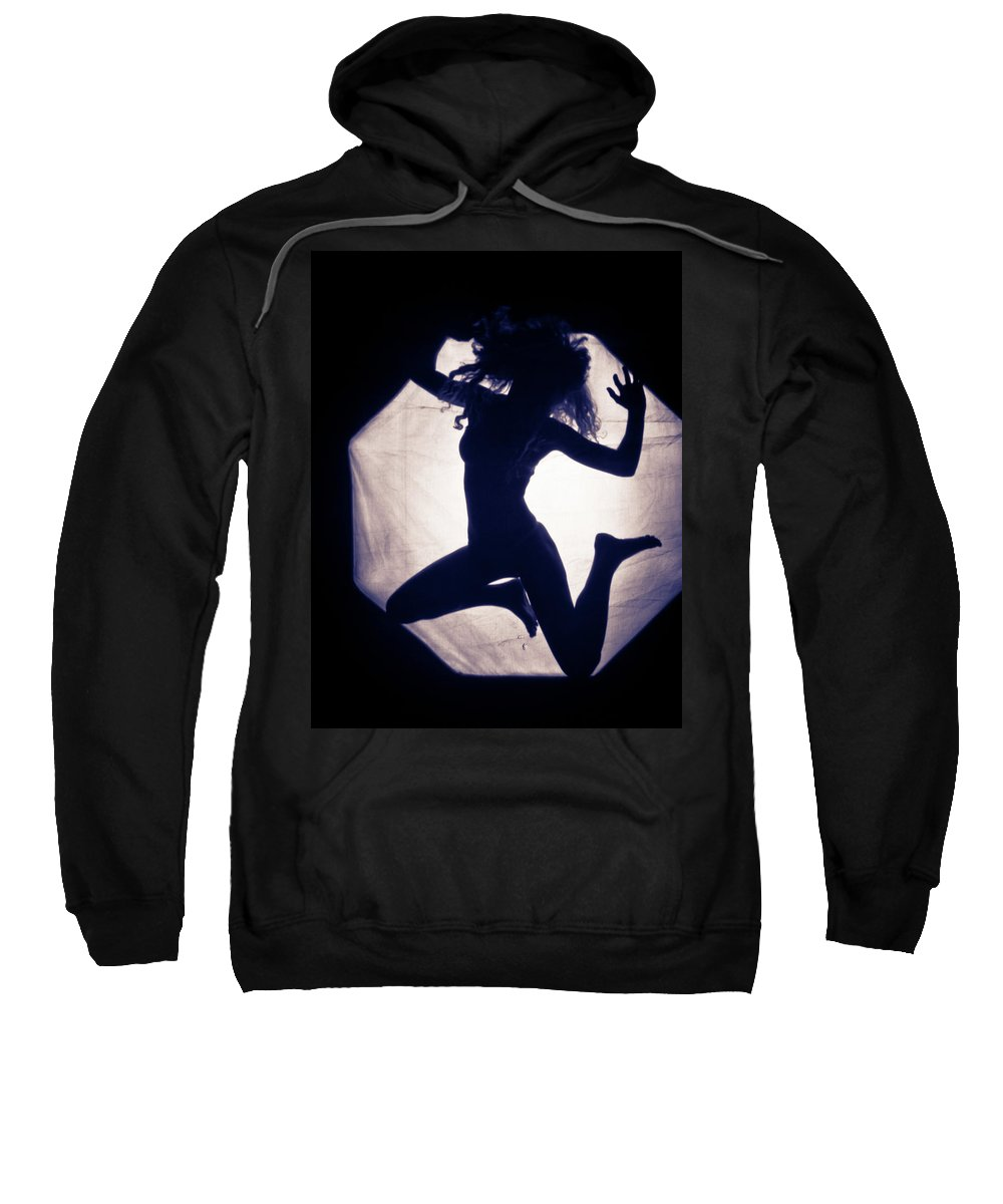 Jumping Sweatshirt featuring the photograph Frollicing by Scott Sawyer