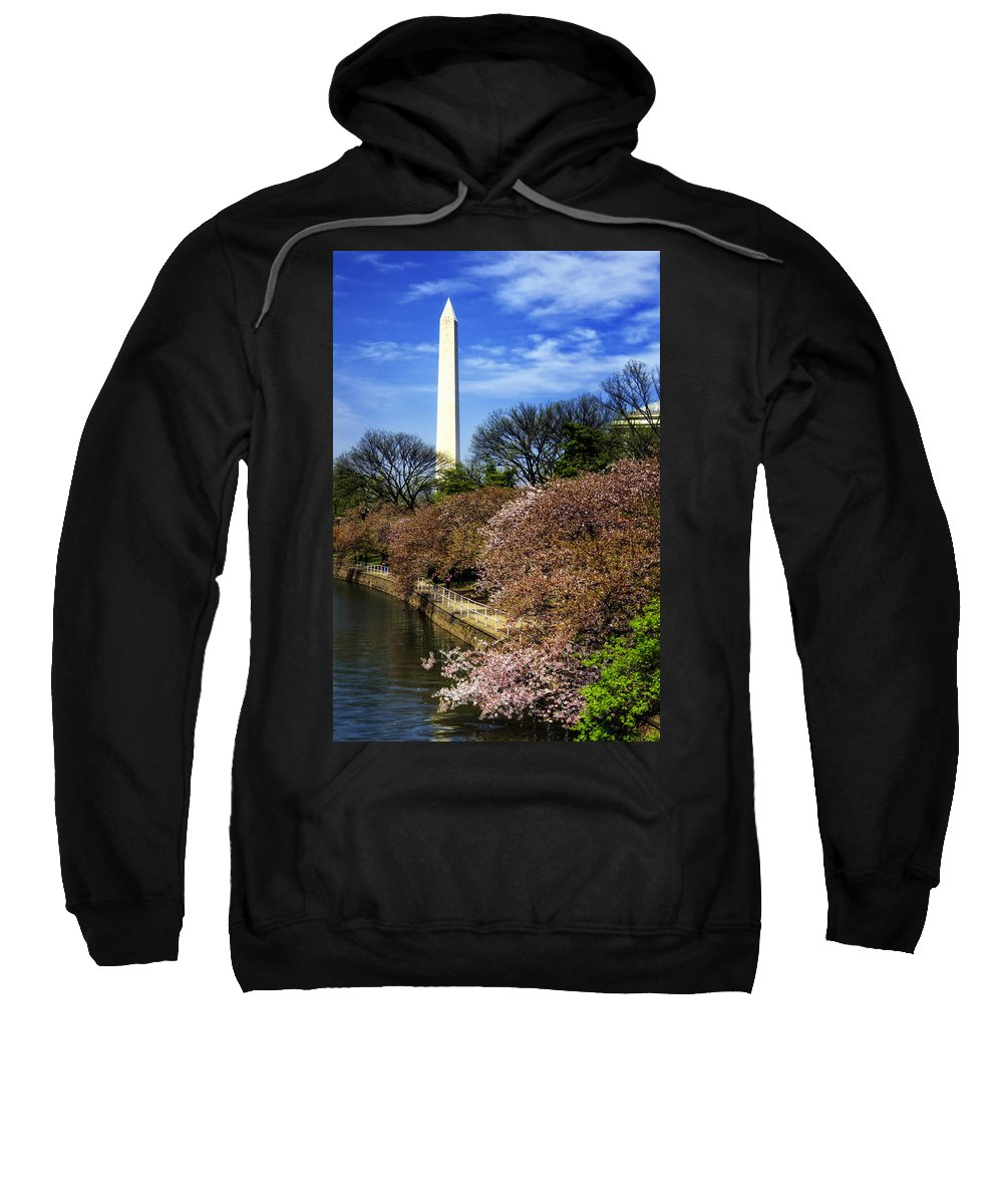 Washington Sweatshirt featuring the photograph From The Basin To The Monument by Joan Carroll