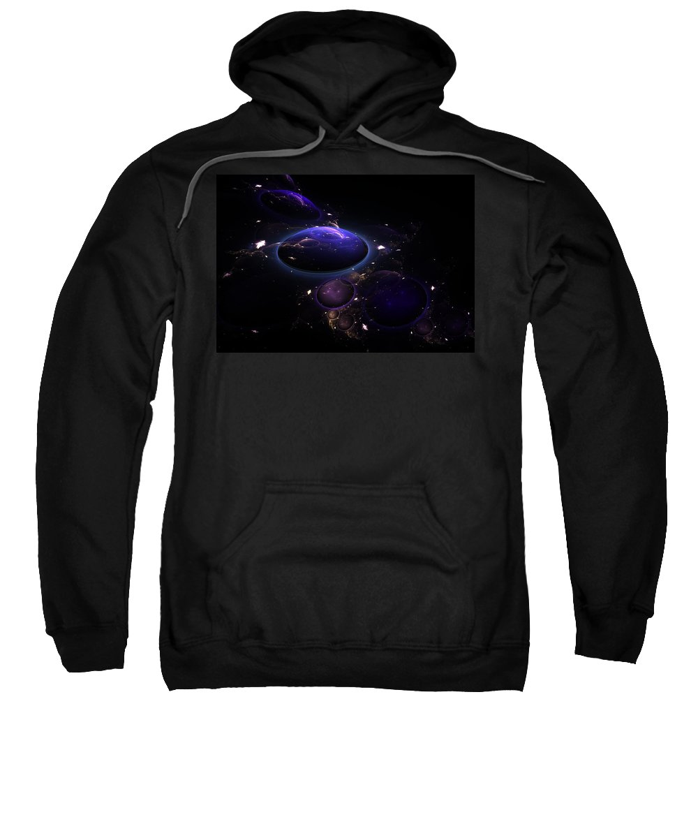 Abstract Sweatshirt featuring the digital art From The Depths Of Space by Lyle Hatch