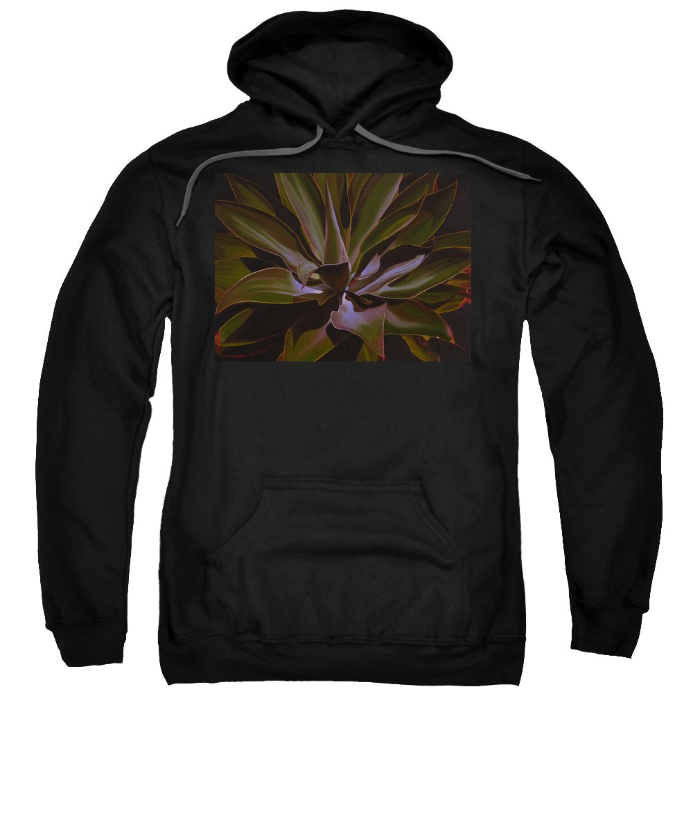 Plant Sweatshirt featuring the painting Frosted by Thu Nguyen
