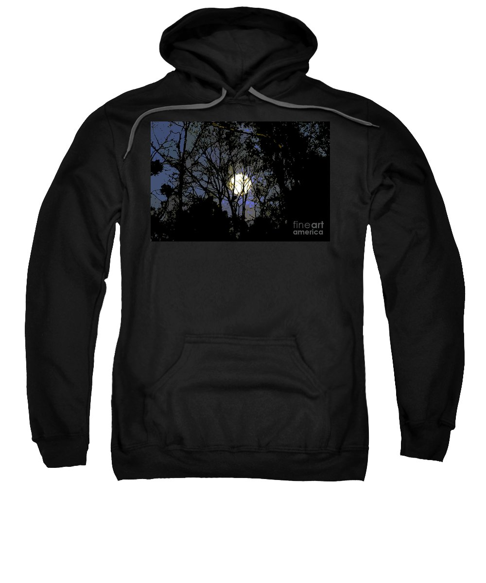 +moon Sweatshirt featuring the painting Full Moon Rising by David Lee Thompson