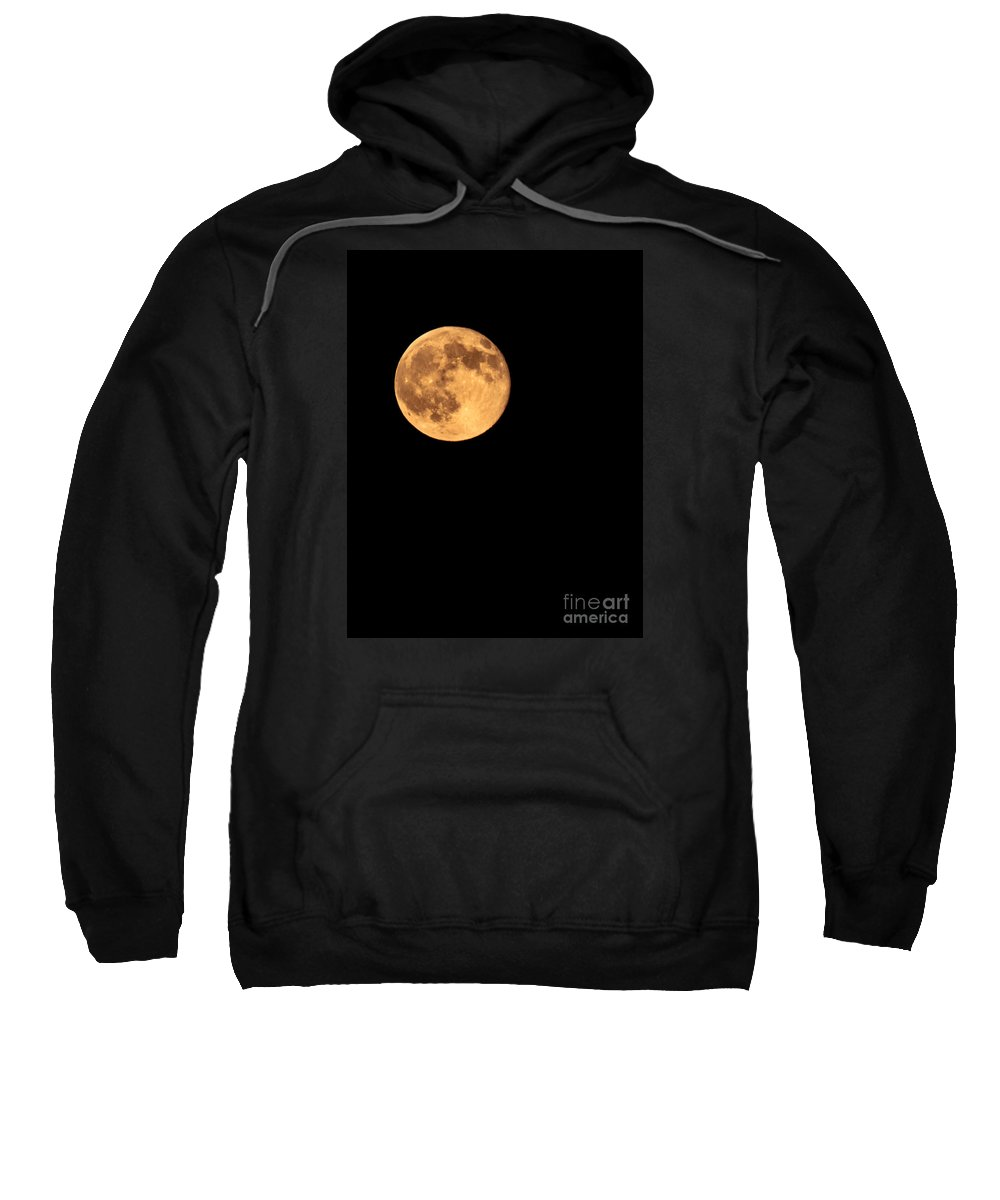 Night Sweatshirt featuring the photograph Full Moon by Robert Bales