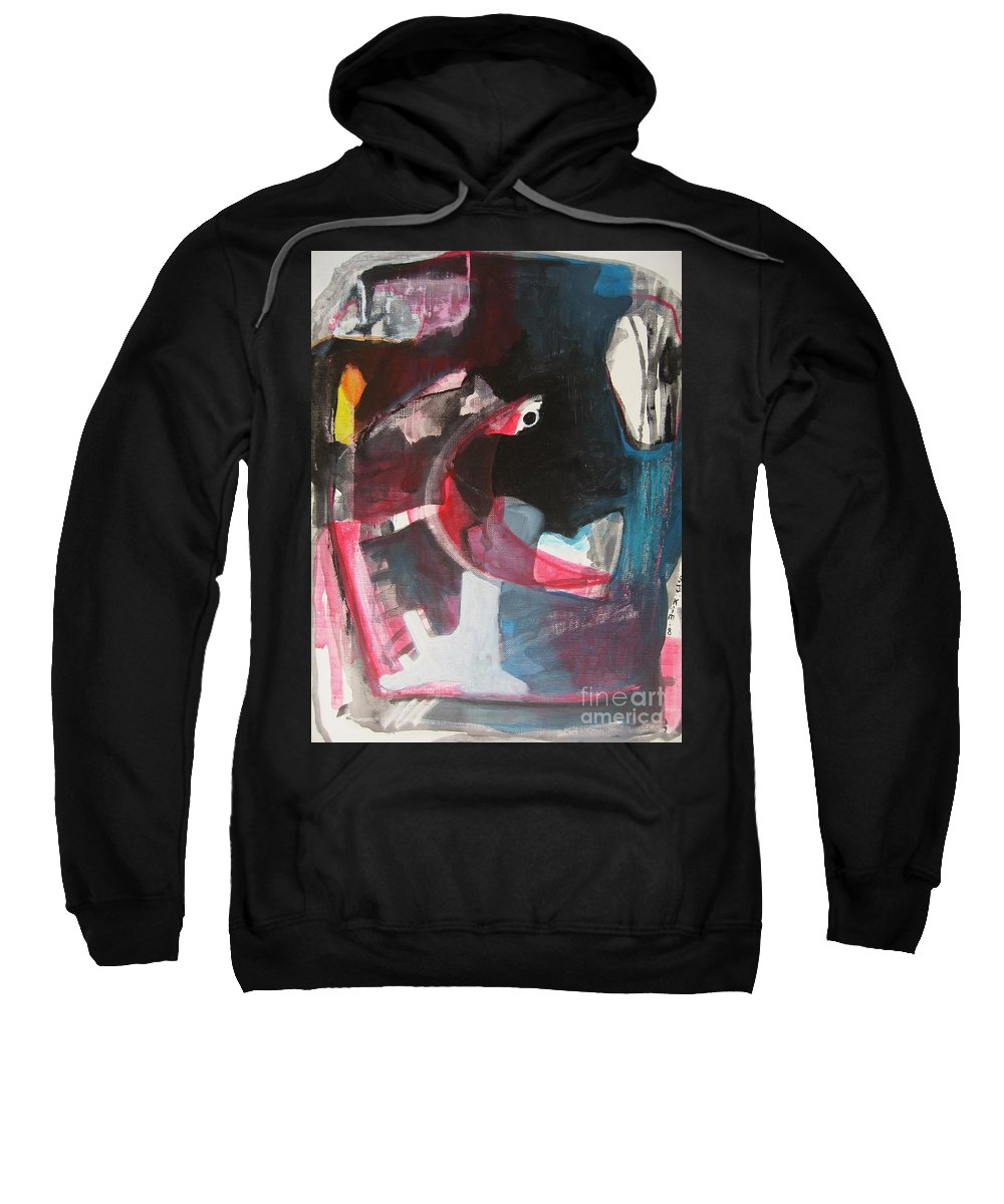 Abstract Paintings Paintings Abstract Art Paintings Sweatshirt featuring the painting Fumbling With Memory by Seon-Jeong Kim