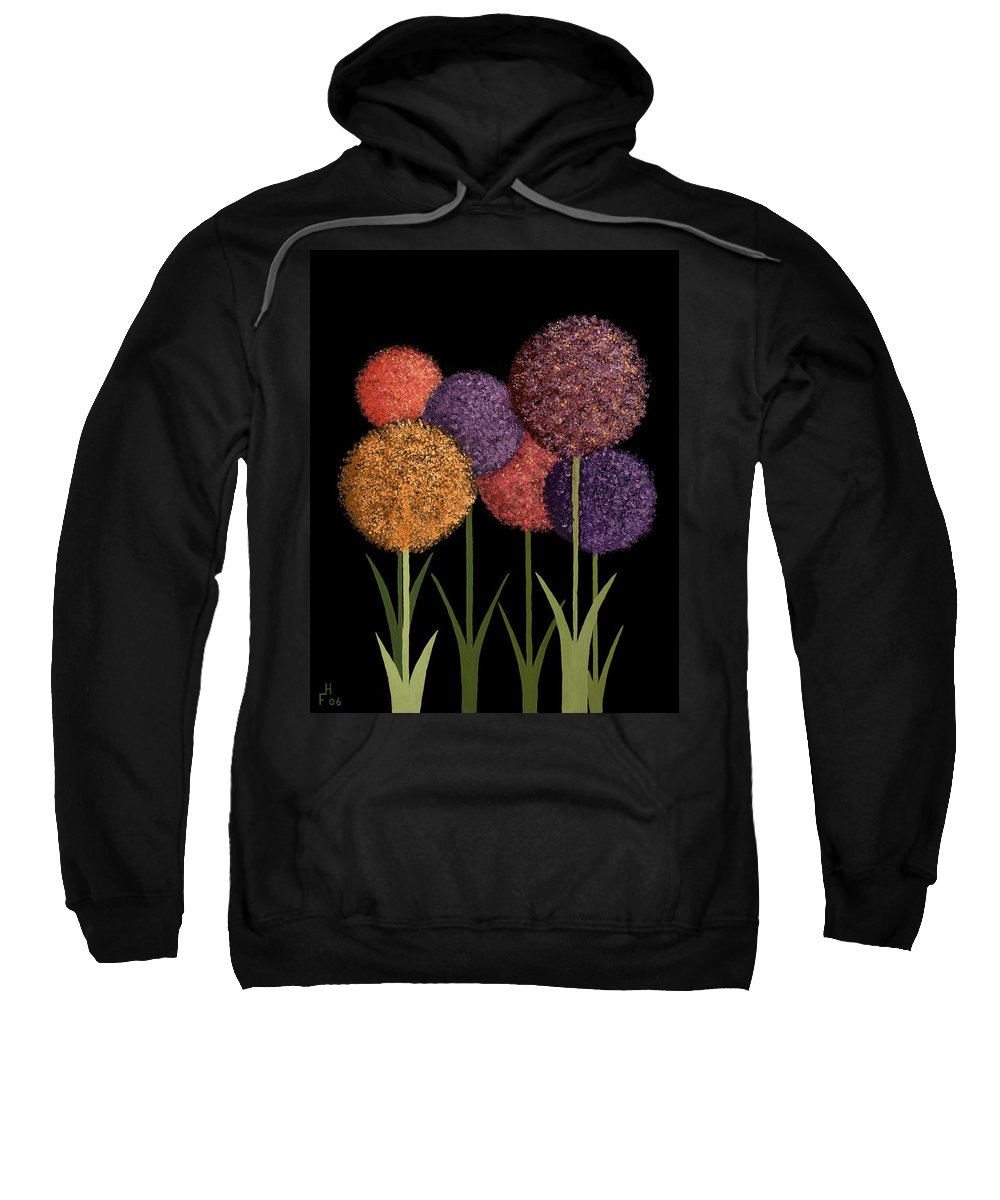 Art Decor Sweatshirt featuring the painting Fun Colours by Frank Hamilton