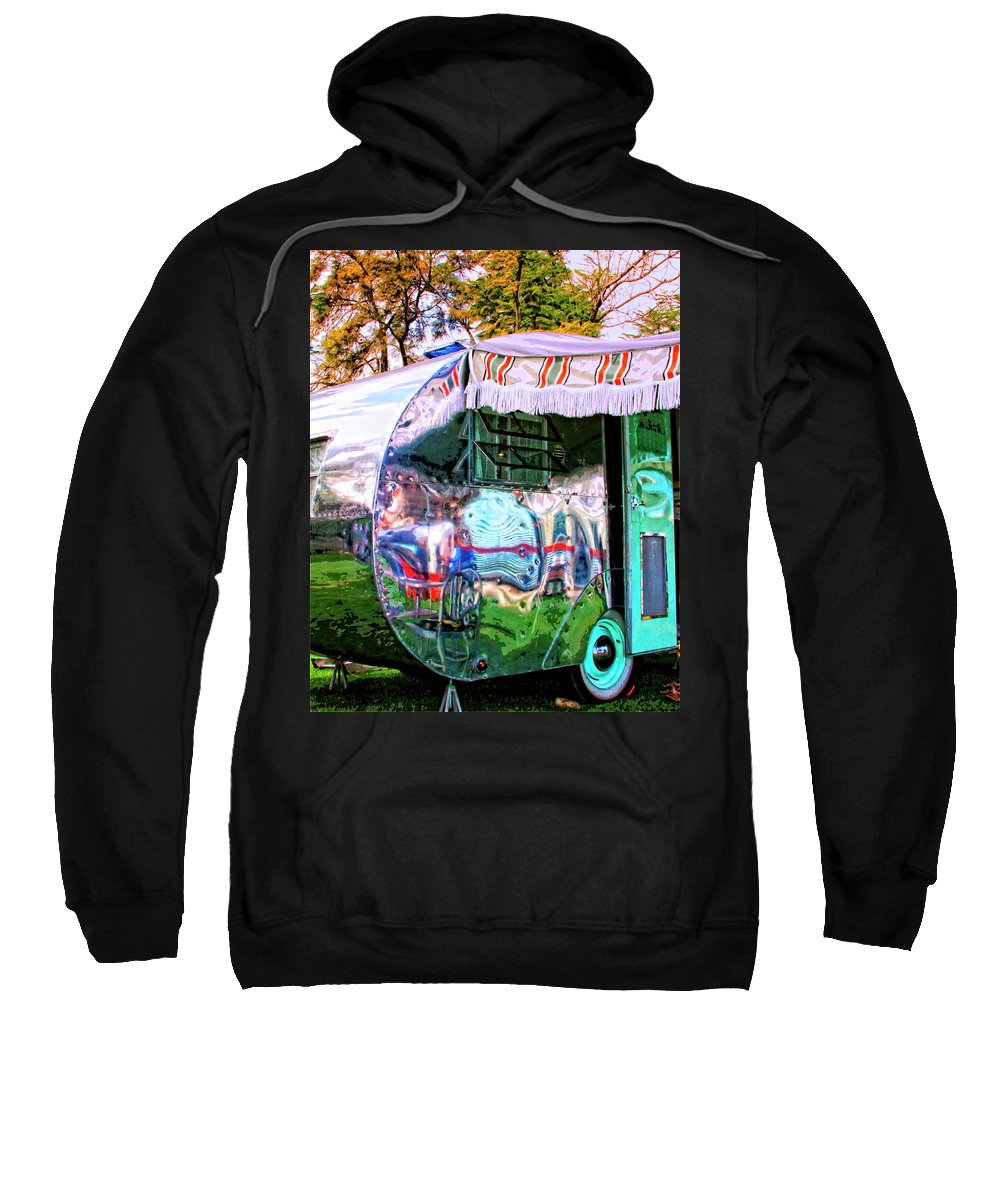Airstream Sweatshirt featuring the photograph Fun House Palm Springs by William Dey