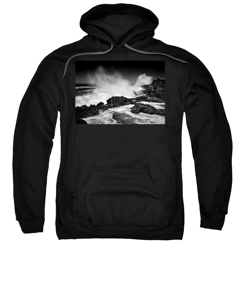 Waves Sweatshirt featuring the photograph Fury by Mike Dawson