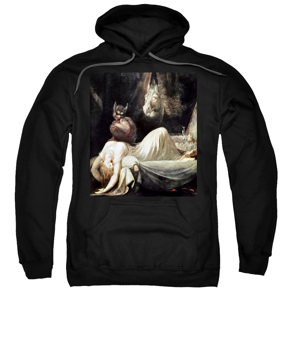 1781 Sweatshirt featuring the photograph Fuseli: Nightmare, 1781 by Granger