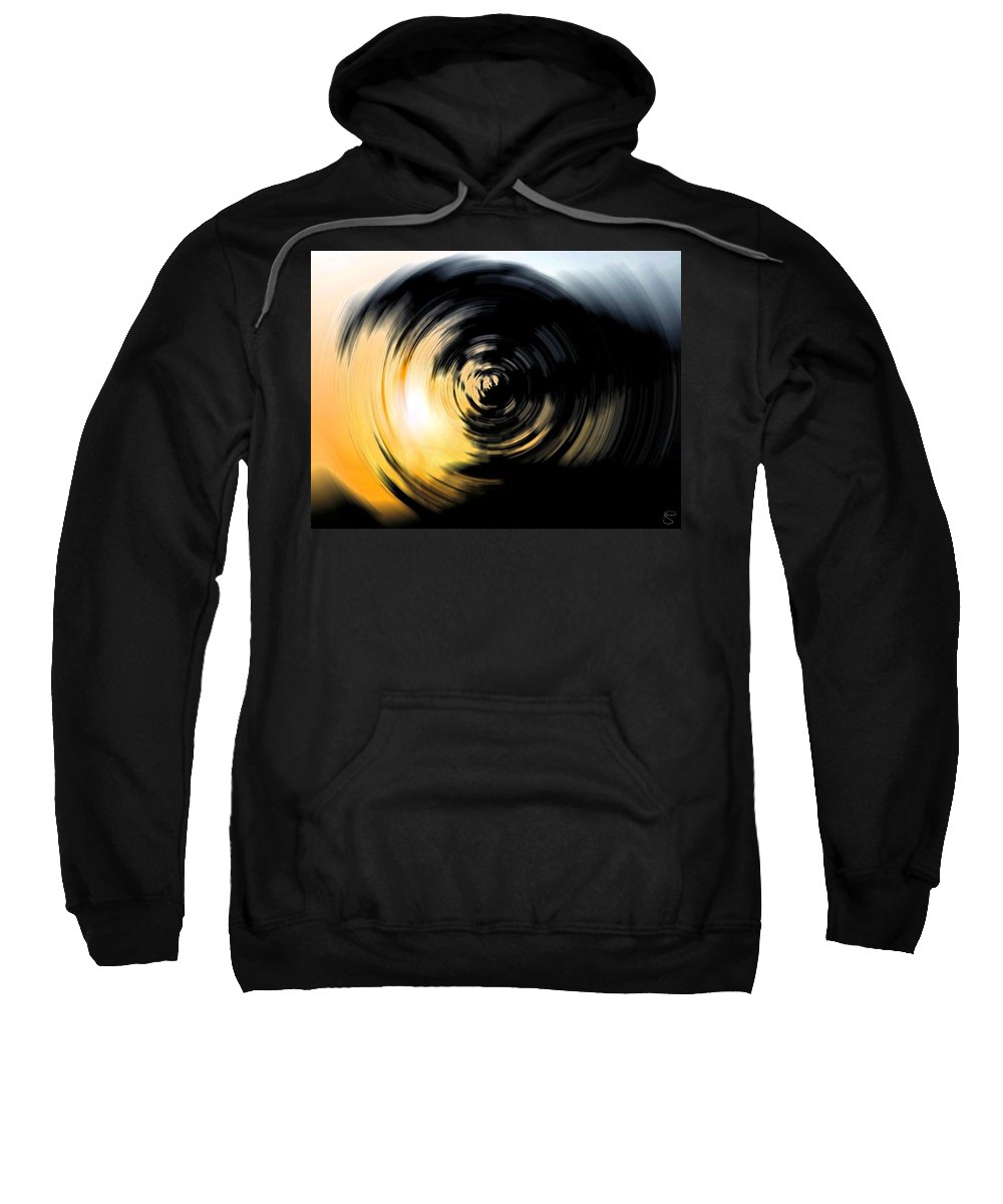 Abstract Sweatshirt featuring the digital art Futility II by Stacey May