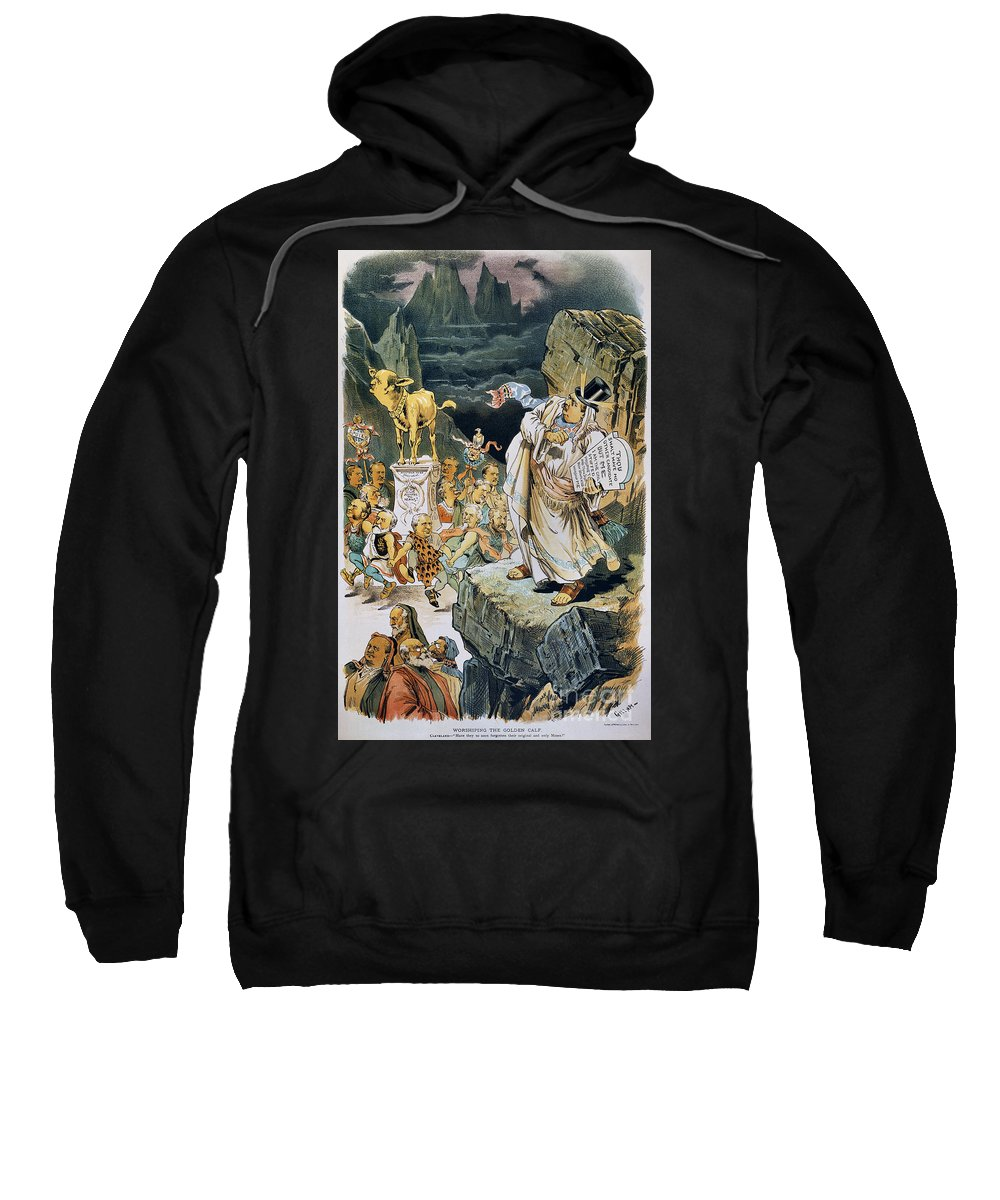 1892 Sweatshirt featuring the photograph G. Cleveland Cartoon by Granger