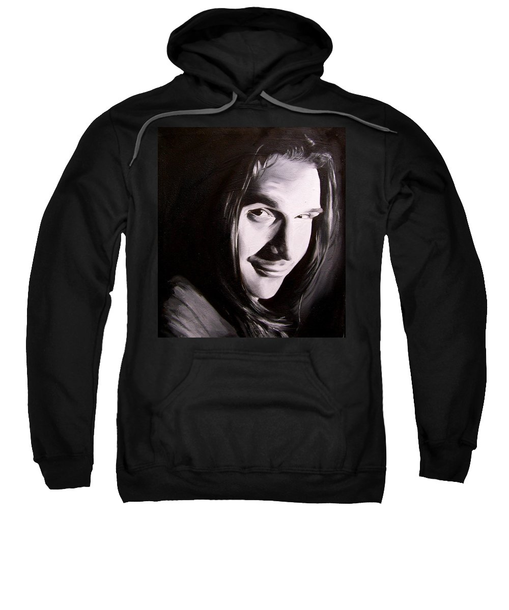 Portraiture Art Sweatshirt featuring the painting Gabriel by Laura Pierre-Louis