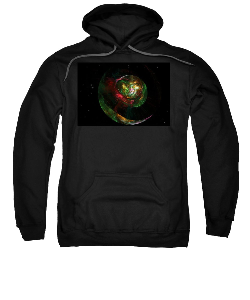 Fantasy Sweatshirt featuring the digital art Gaia Revealed by David Lane