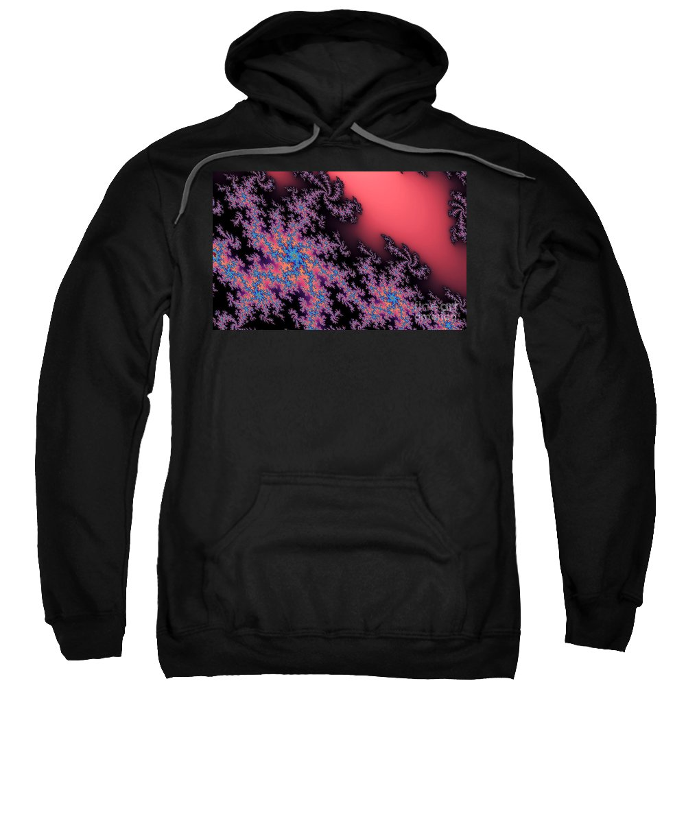 Clay Sweatshirt featuring the digital art Galaxies by Clayton Bruster