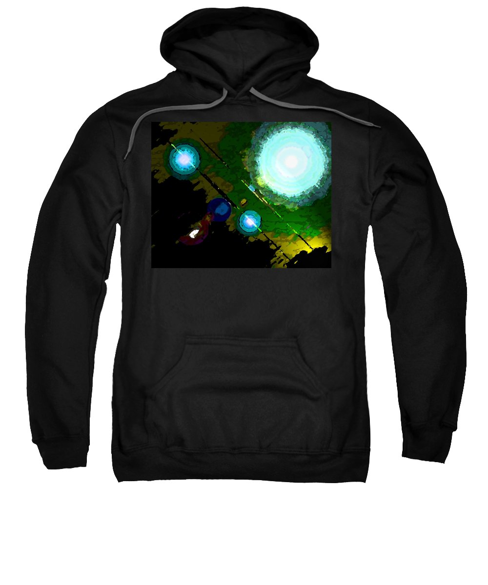Abstract Sweatshirt featuring the digital art Galaxy 1 by Lenore Senior