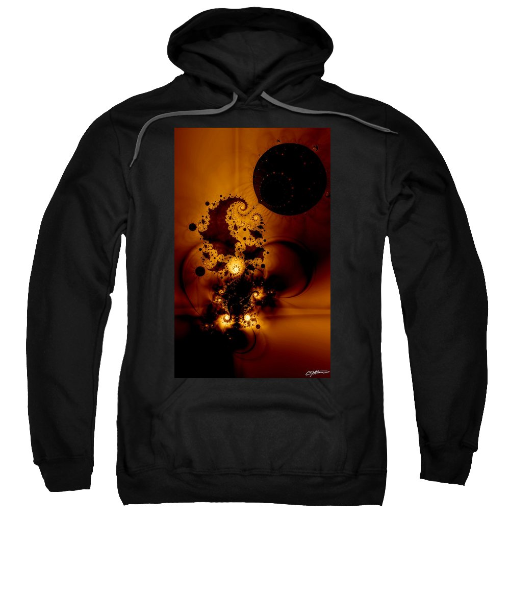 Fractal Sweatshirt featuring the digital art Galileo's Muse by Casey Kotas