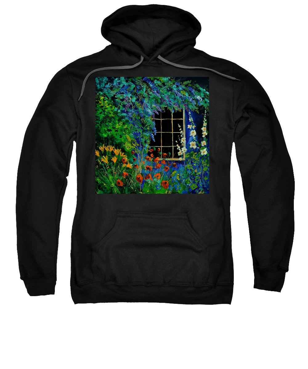 Flowers Sweatshirt featuring the painting Garden 88 by Pol Ledent