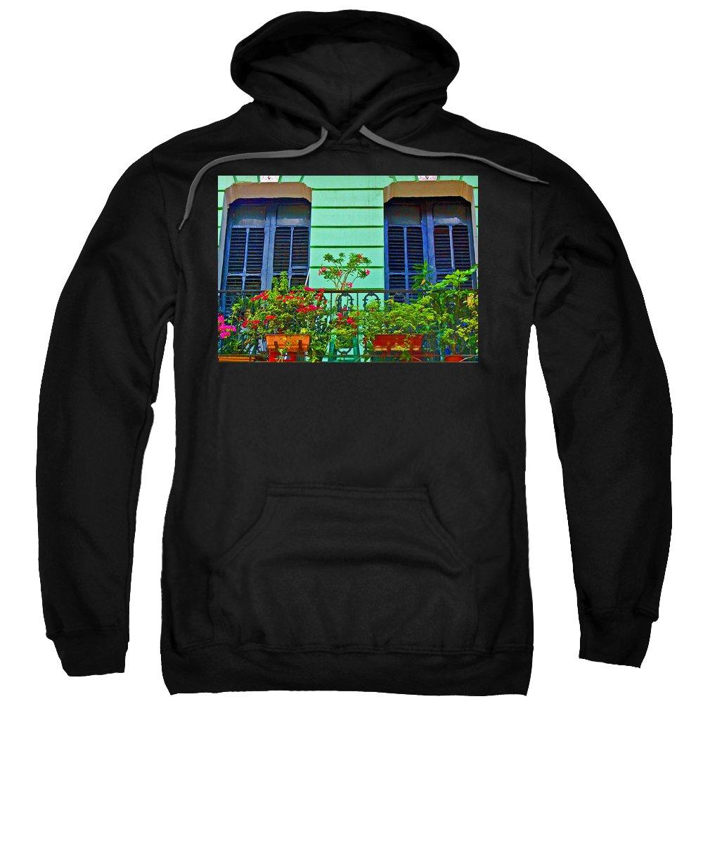 Garden Sweatshirt featuring the photograph Garden Balcony by Debbi Granruth