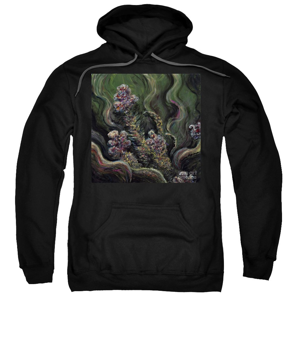 Flowers Sweatshirt featuring the painting Garden Delights by Nadine Rippelmeyer