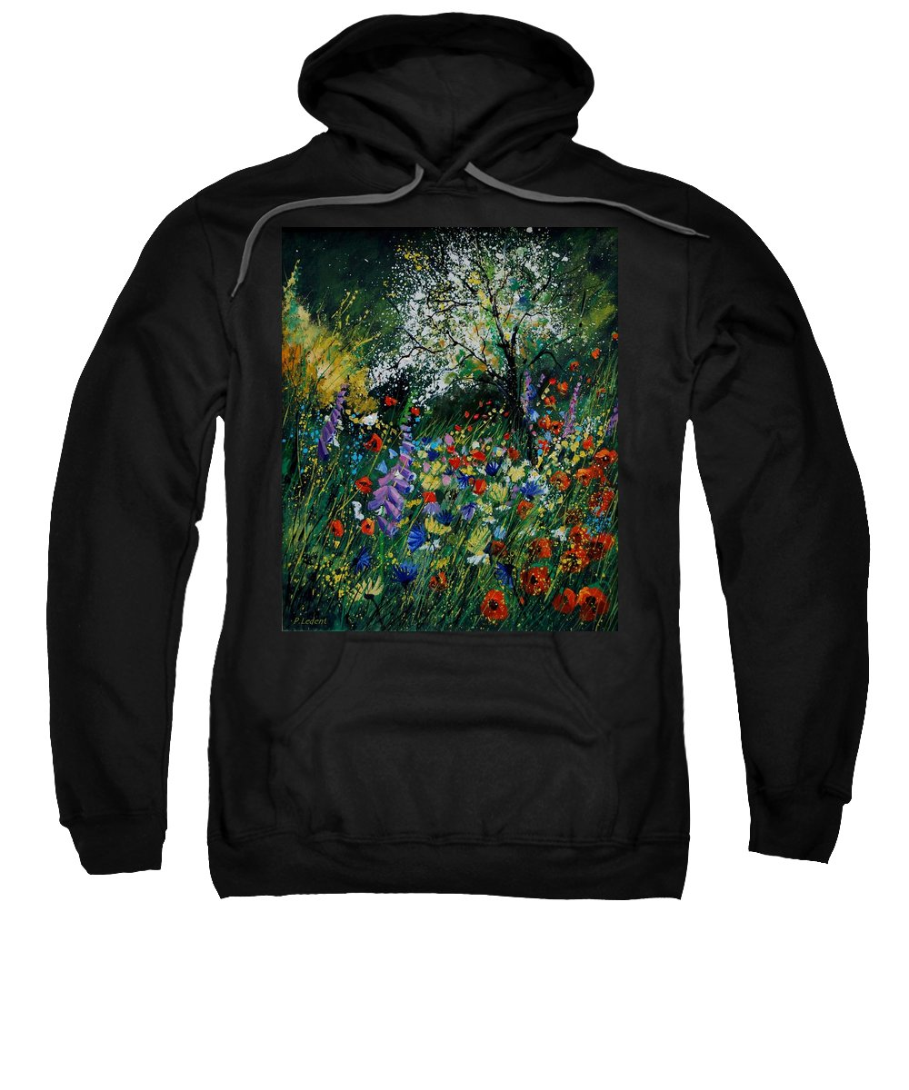 Flowers Sweatshirt featuring the painting Garden Flowers by Pol Ledent