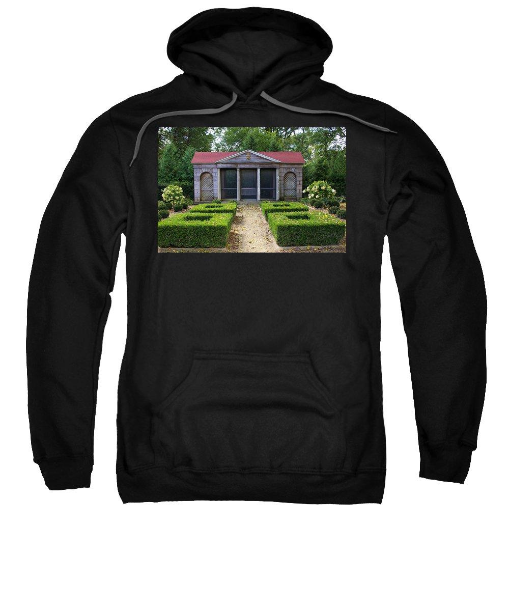 Garden House Sweatshirt featuring the photograph Garden House by Tom Reynen