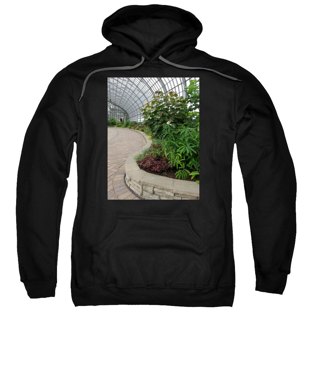 Landscape Sweatshirt featuring the photograph Garfield Park Conservatory by Cindy Kellogg