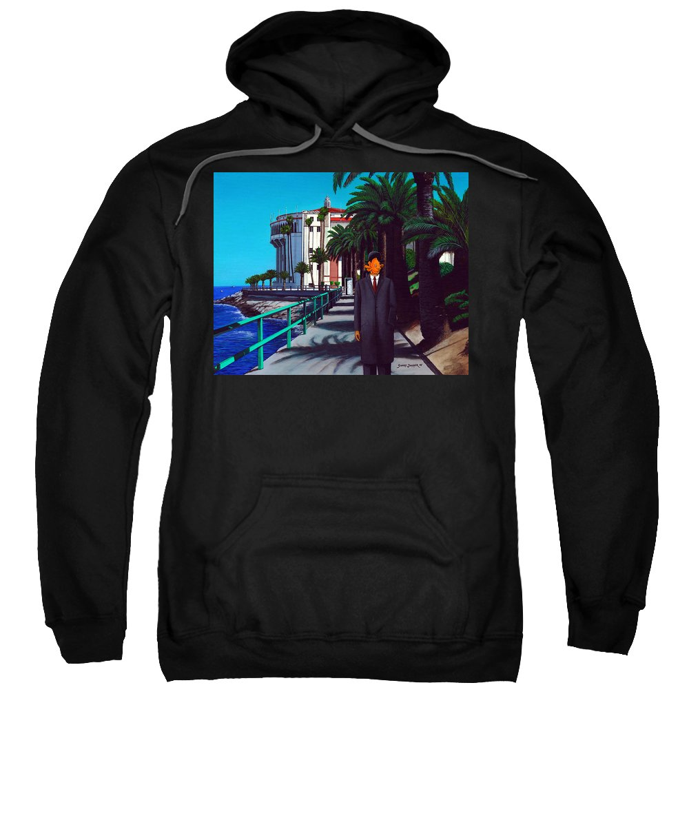 Catalina Sweatshirt featuring the painting Gary Baldie by Snake Jagger