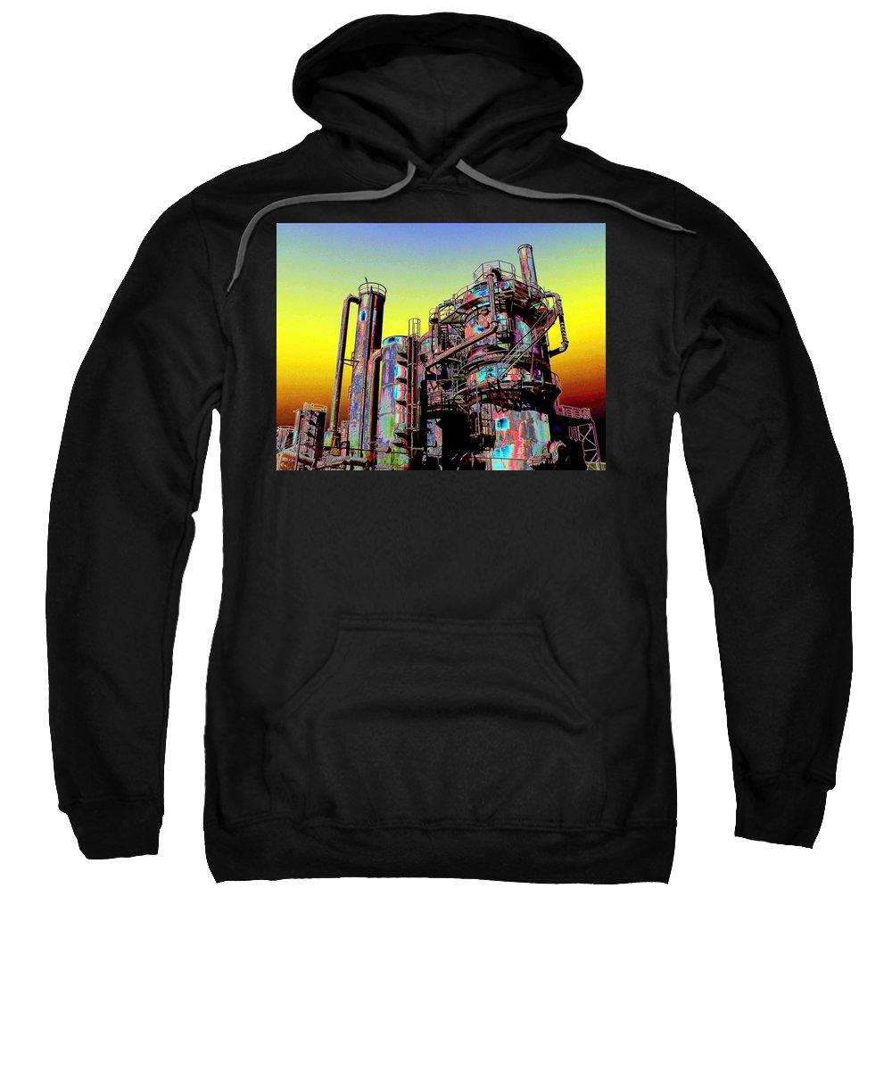 Seattle Sweatshirt featuring the digital art Gasworks Park 1 by Tim Allen