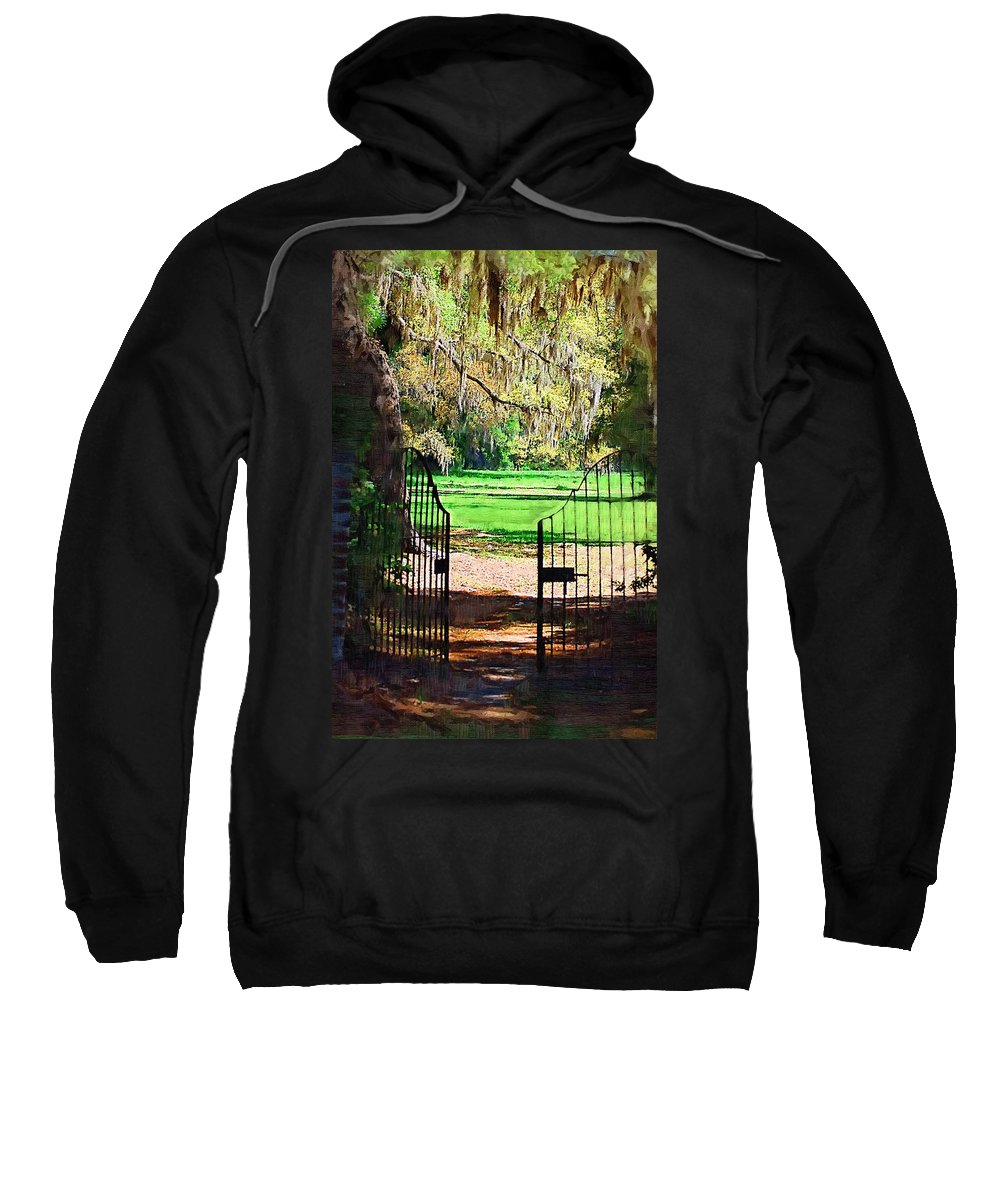 Gate Sweatshirt featuring the photograph Gate To Heaven by Donna Bentley