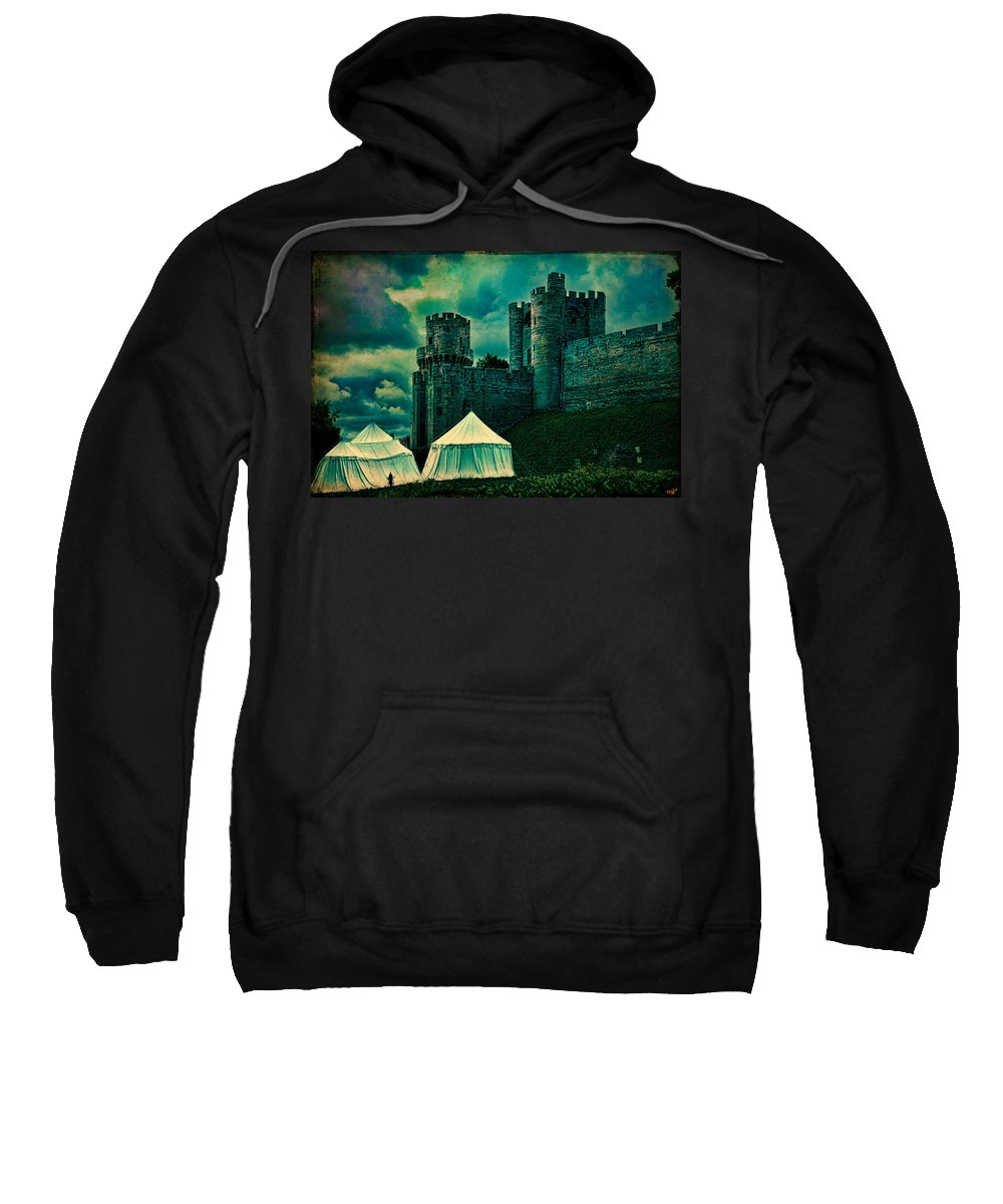 Cloud Sweatshirt featuring the photograph Gate Tower At Warwick Castle by Chris Lord