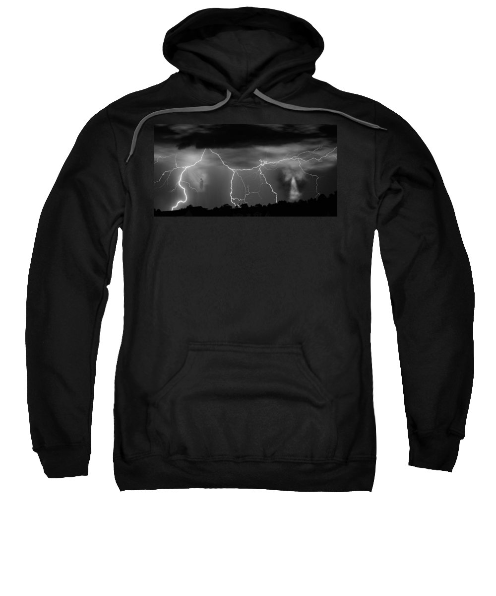 Religious Sweatshirt featuring the photograph Gates To Heaven Black And White by James BO Insogna