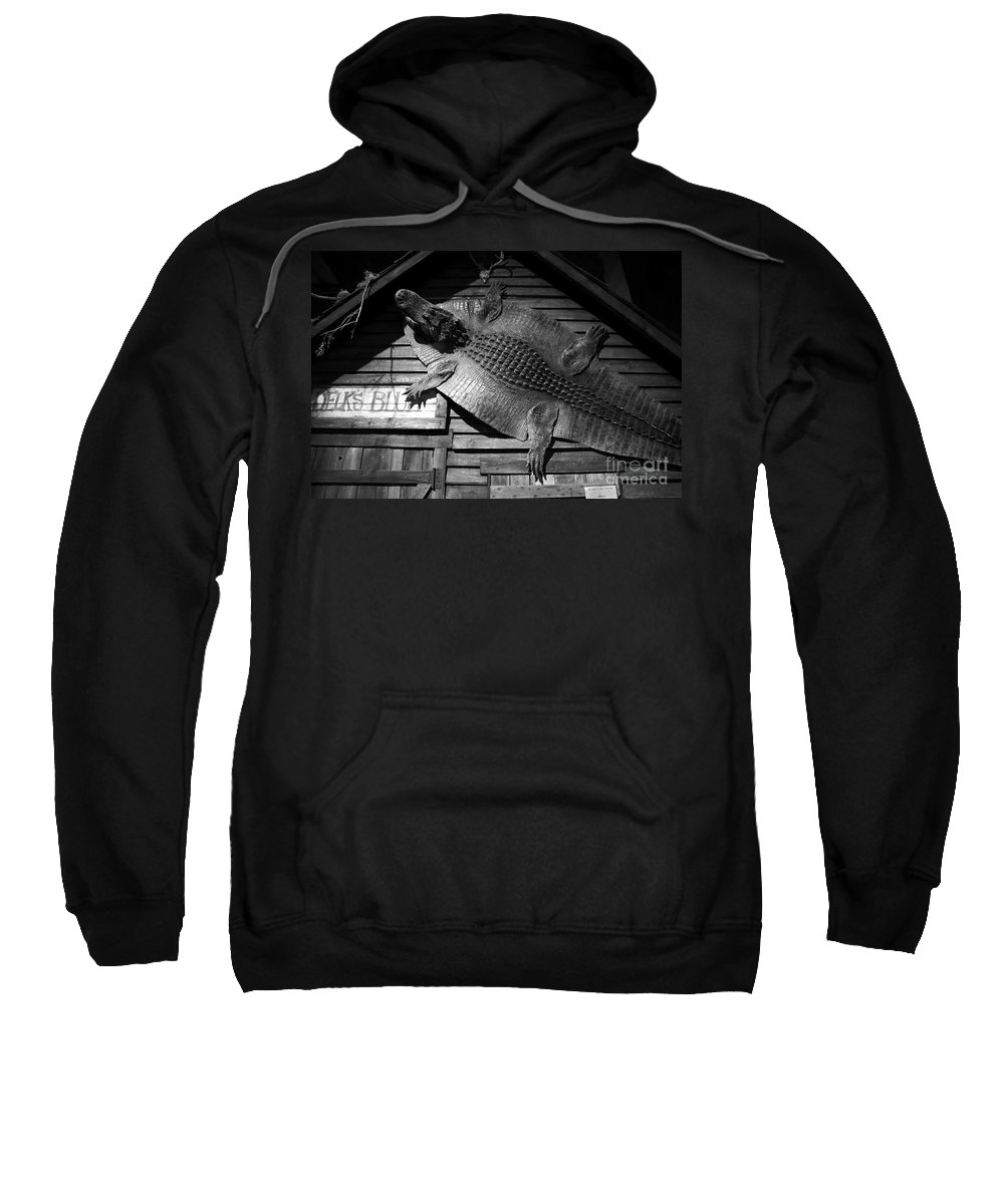 Alligator Sweatshirt featuring the photograph Gator Hide by David Lee Thompson