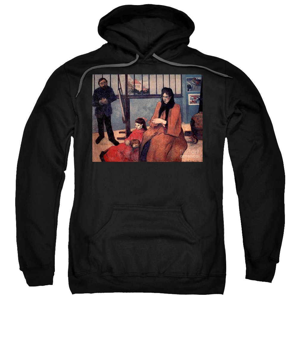1889 Sweatshirt featuring the photograph Gaugin: Family, 1889 by Granger